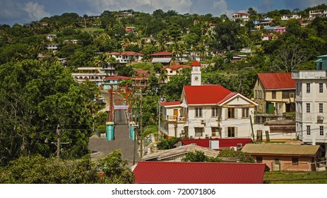 View of San Ignacio skyline, Belize.