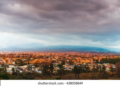 View of San Jose, at sunset, Costa Rica