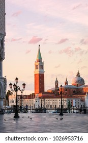 View from San Marco Square, Venice, Italy.