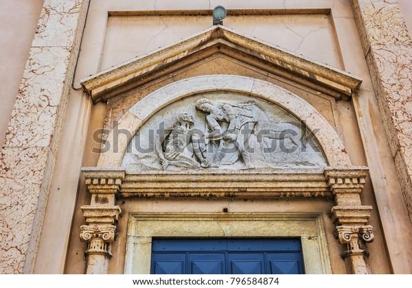 View San Martino Church Chiesa Parrocchiale Religion Stock Image 796584874