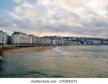 View of the San Sebastian beach,Spain