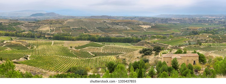 View of San Vicente de la Sonsierra village, La Rioja, Spain