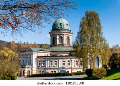 View of sanatorium building in Ladek Zdroj Poland