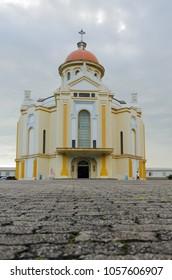 View of the Sanctuary of the Nossa Senhora do Caravaggio in Farroupilha, Rio Grande do Sul, 2018.