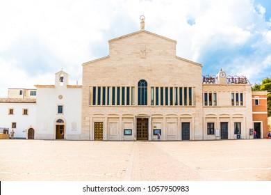 View of  the  Sanctuary of San Giovanni Rotondo, Apulia, Italy.