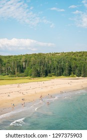 View of the Sand Beach in Acadia National Park, Maine