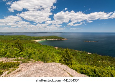 A view of Sand Beach in Acadia National Park, Maine