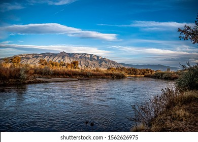 View of Sandia mountains from Corrales,  New Mexico