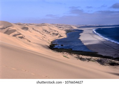 view of sandwich harbour, Namibia, Africa