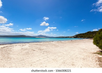 View of sandy beach at Two peoples Bay conservation reserve in Nanarup, Albany, Western Australia.