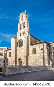 View at the Sant Lesmes Church in the streets of Burgos - Spain