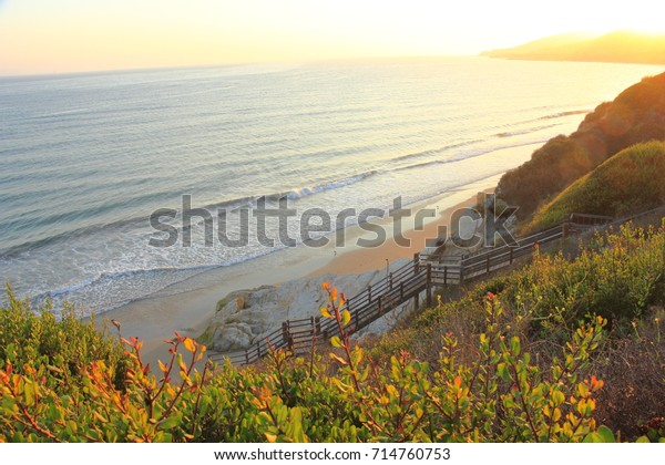 View of the Santa Barbara Channel, taken from El Capitan State Beach