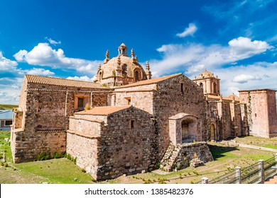 View of Santa Isabella Church in Pucara Puno, Peru in sunny day