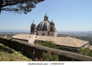 View Of Santa Margherita Cathedral in Montefiascone city (Tuscany, Italy)