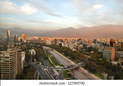 View of Santiago de Chile, capital of Chile.