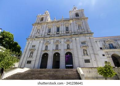 View of the Sao Vicente de Fora church located in Lisbon, Portugal.