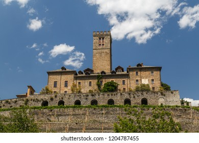View to Sarre Royal Castle in Aosta Valley, Italy