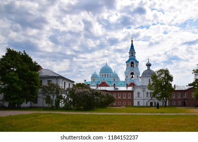 View of the Savior-Transfiguration Cathedral.Valaam ??rthodox Transfiguration monastery. Valaam archipelago, Karelia. Russia.