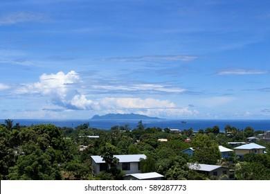 View of Savo Island from Honiara, Solomon Islands