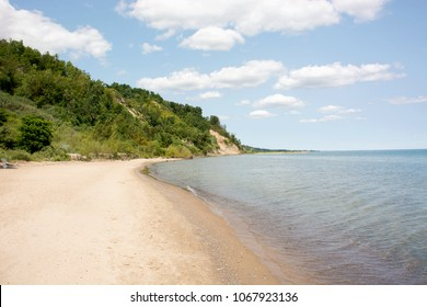 View of Scarborough Bluffes Beach and Park in Toronto, Ontario.