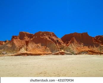 View of the scenery of the Canoa Quebrada, Brazil