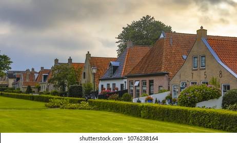 View of Schiermonnikoog village on Wadden island of Schiermonnik