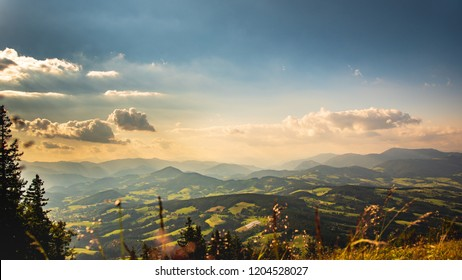 View from Schockl mountain in Graz. Tourist spot in Graz Styria. Places to see in Austria