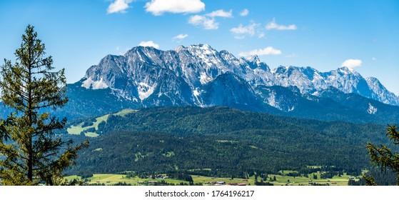 view from Schwarzkopf mountain near Wallgau - Bavaria - photo
