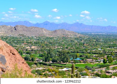 View of Scottsdale, Arizona from Camelback Mountain