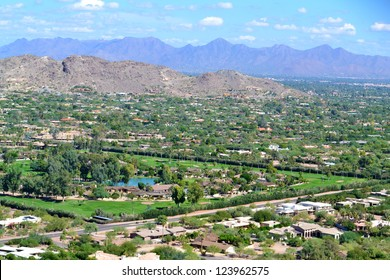 View of Scottsdale, Arizona from Camelback Mountain