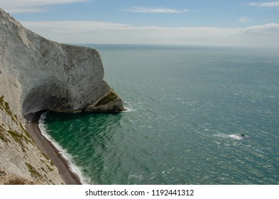 A view of Scratchell's Bay, Isle of Wight from the Needles
