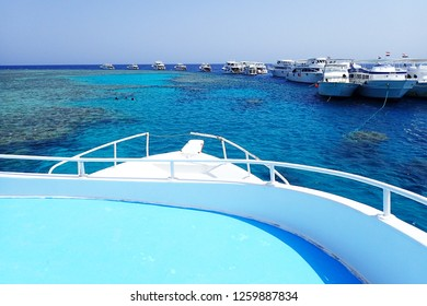 view from sea boat in Egypt red sea