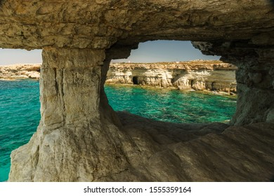 View from a sea cave