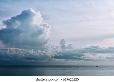 View of the sea with clouds