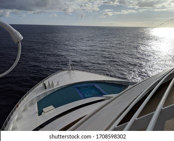 view of sea from a cruise ship