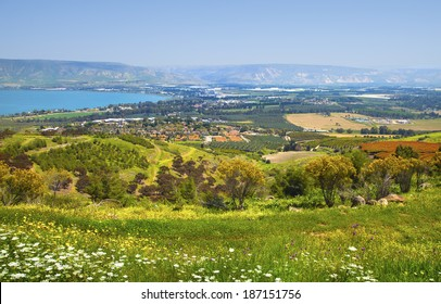 View of the sea of Galilee Kineret, Israel