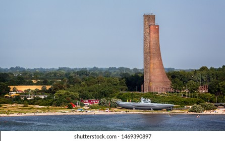 View from sea of the Laboe Naval memorial in Laboe, near Kiel, germany on 25 July 2019
