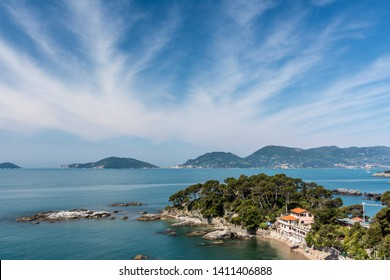 A view of the sea from Lerici, Italy