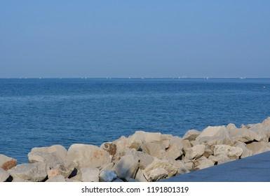 view of the sea level, Grado, Italy