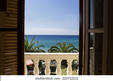 A view to the sea from the local villa