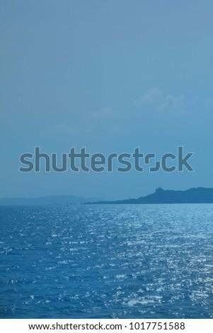 559411fc36a0 View Sea Strait Between Sardinia Corsica Stock Photo (Edit Now ...