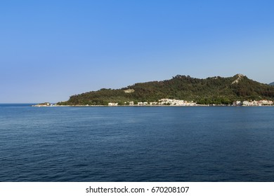 View from the sea to Thassos island