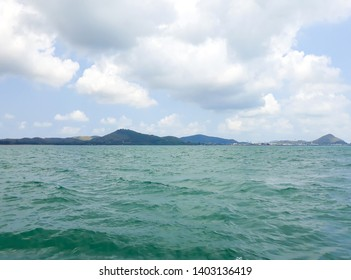 View of seascape ,sky and clouds in Thailand.