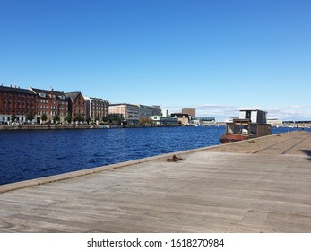 A view of the seaside of the city of Copenhagen