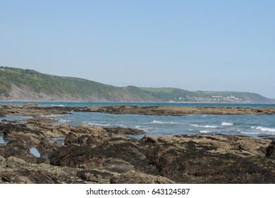 A view of Seaton, looking east from Looe in southeast Cornwall