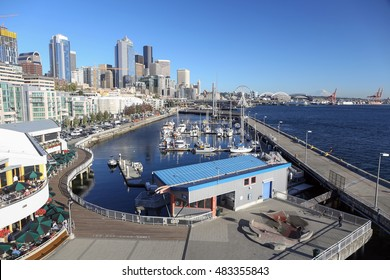 View of Seattle downtown waterfront