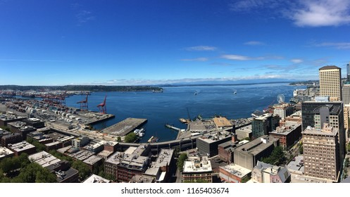 View in Seattle Washington from the Smith tower