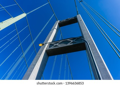 A view of a section of the Narrows Bridge in Tacoma,Washington.