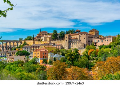 View of Segovia town in Spain