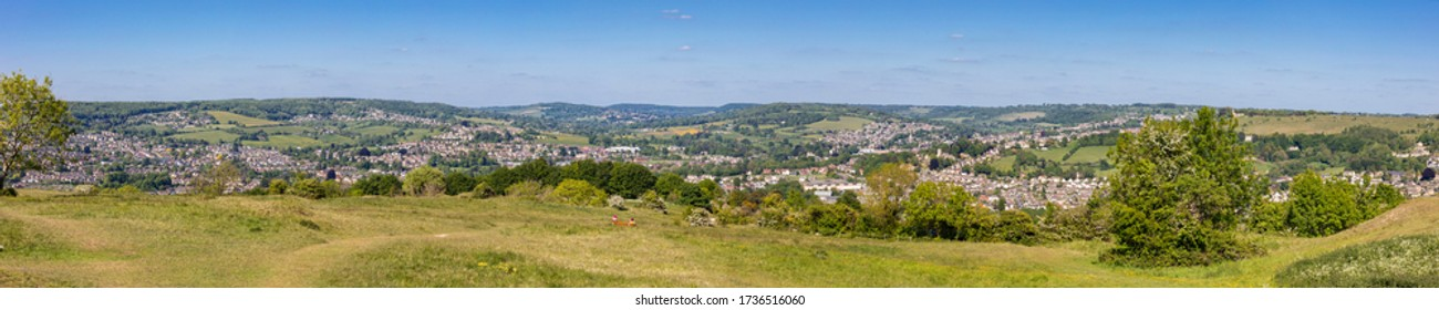 View from Selsley Common towards Stroud,Cotswolds, Gloucestershire, England, United Kingdom